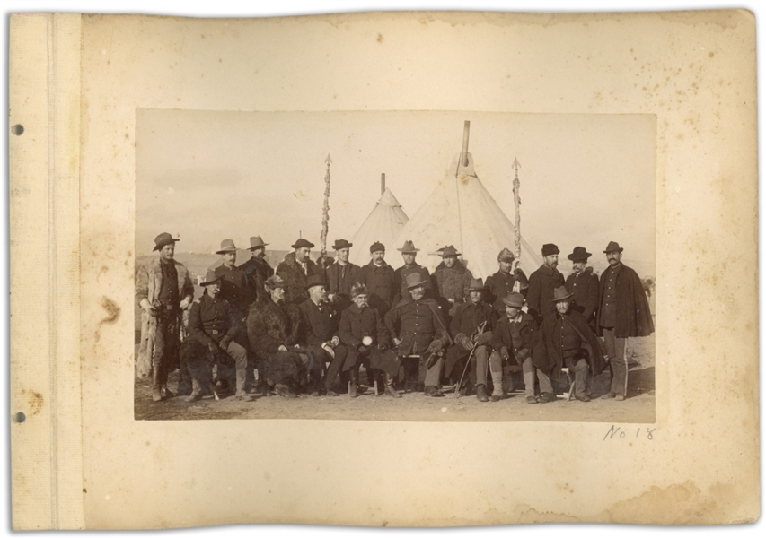 Two Original Photographs From 1890-91, at the Time of the Wounded Knee Massacre -- Photographs Show Federal Forces Arriving in Pine Ridge to Combat the ''Ghost Dancers''